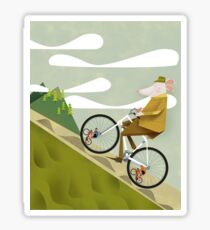 Hamster Cyclist Road Bike Poster Sticker