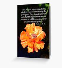 Solomon's Splendour Greeting Card