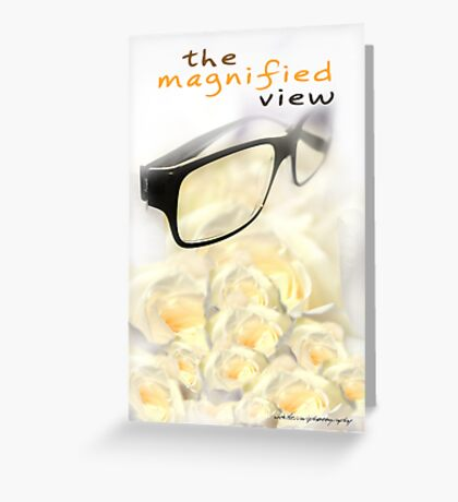 The Magnified View © Vicki Ferrari Greeting Card