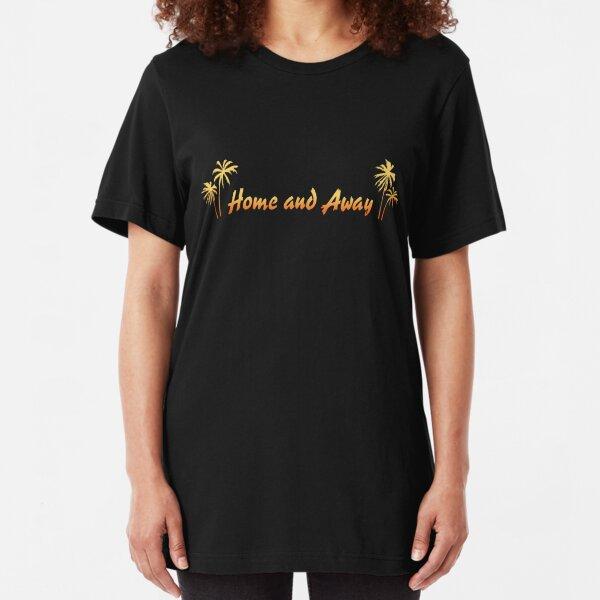 Retro Home And Away Logo Slim Fit T-Shirt