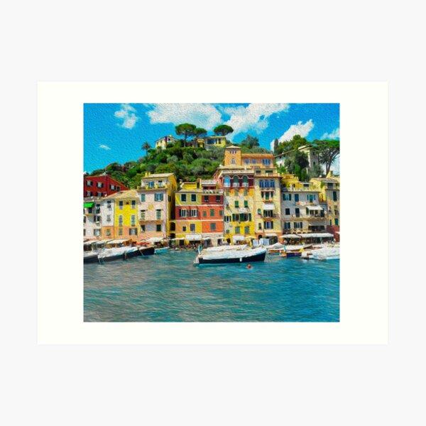 Portofino Italy, The Fishing Village Oil Art Print