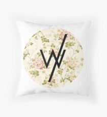 Sleeping With Sirens(flower background) Throw Pillow