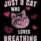 Nur eine Katze, die schweres Atmen liebt von electrovista