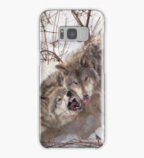 Timber Wolves Fighting Samsung Galaxy Case/Skin