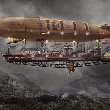 Steampunk - Blimp - Airship Maximus  by mikesavad