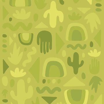 Green Cutout Print by doodlebymeg