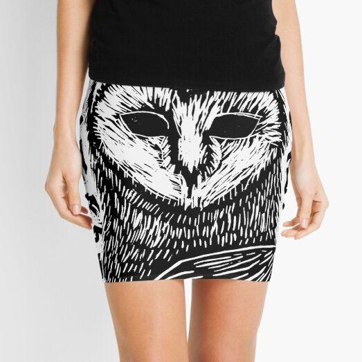 Owl - b/w Mini Skirt