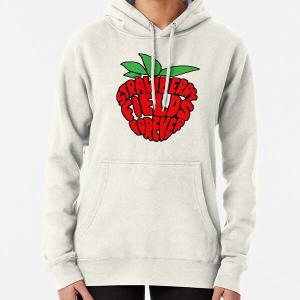 """""""Strawberry Fields Forever"""" Design Pullover Hoodie"""