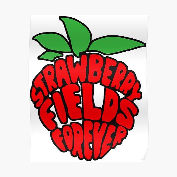 """Strawberry Fields Forever"" Design Poster"