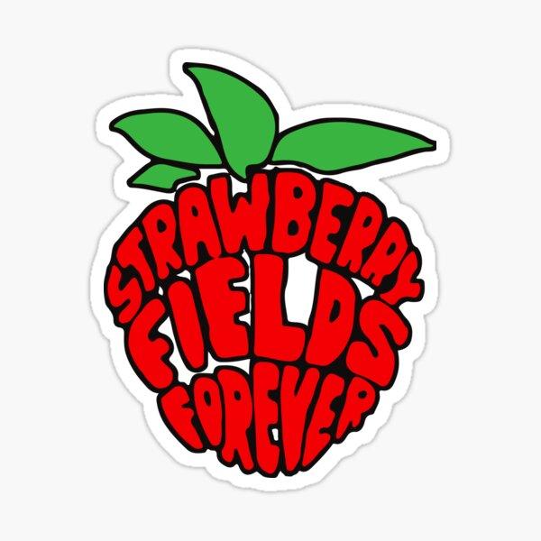 """Strawberry Fields Forever"" Design Sticker"