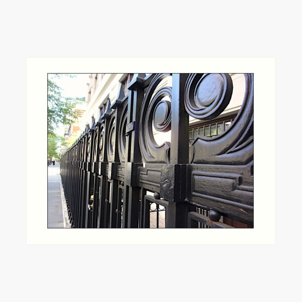 wrought iron gate Art Print