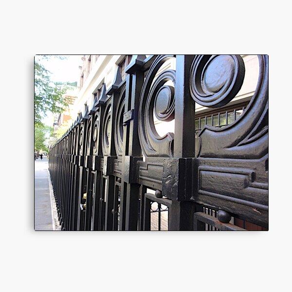 wrought iron gate Canvas Print