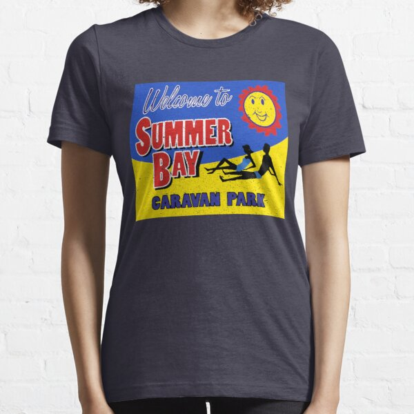 Retro Home And Away Summer Bay Caravan Park Essential T-Shirt