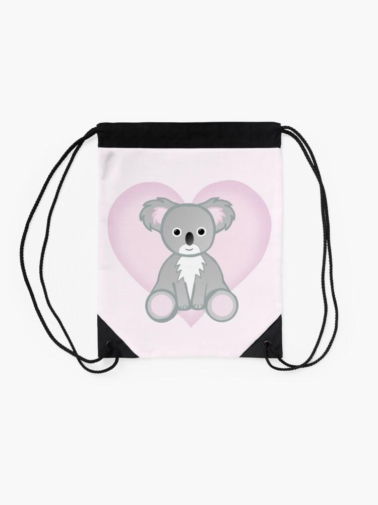 Alternate view of To a KOALITY Boyfriend - Koala - Valentine's Day Pun - Anniversary Pun - Animal Pun - Cute - Adorable - Birthday Pun - Australia Drawstring Bag