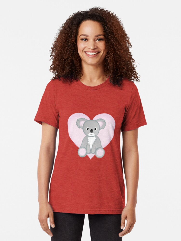 Alternate view of To a KOALITY Boyfriend - Koala - Valentine's Day Pun - Anniversary Pun - Animal Pun - Cute - Adorable - Birthday Pun - Australia Tri-blend T-Shirt