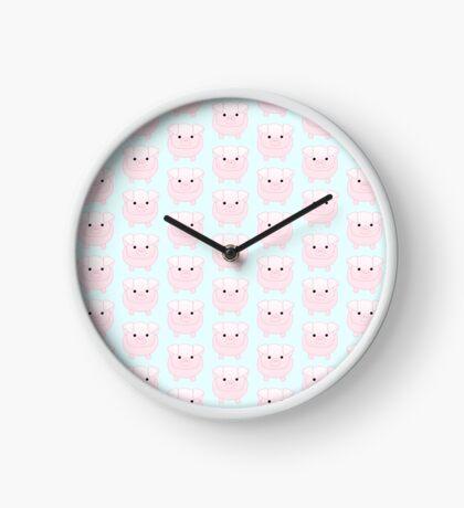 I miss you PIG time - Pig Pun - Cute pig - Pig Gifts - Miss you card - Hog - Adorable - Pink - Blue Clock