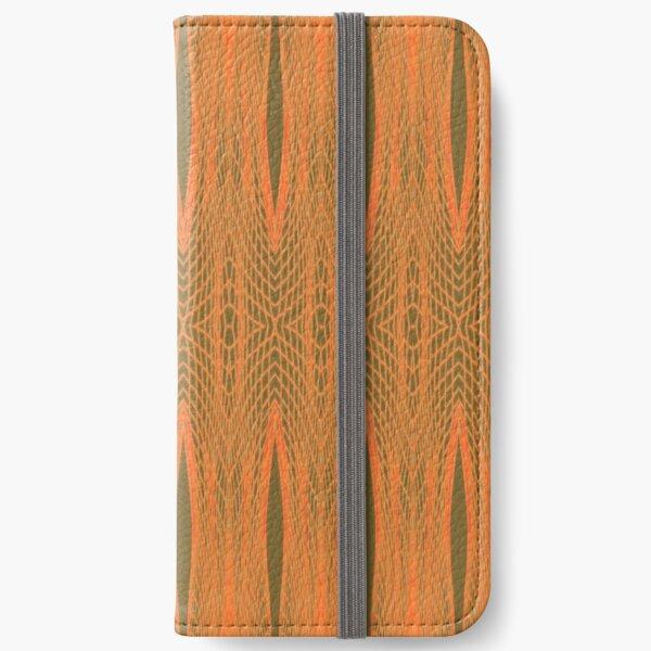 Orange Faux Tulle Design iPhone Wallet