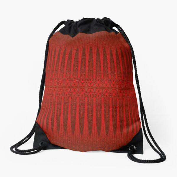 Red Faux Tulle Design Drawstring Bag