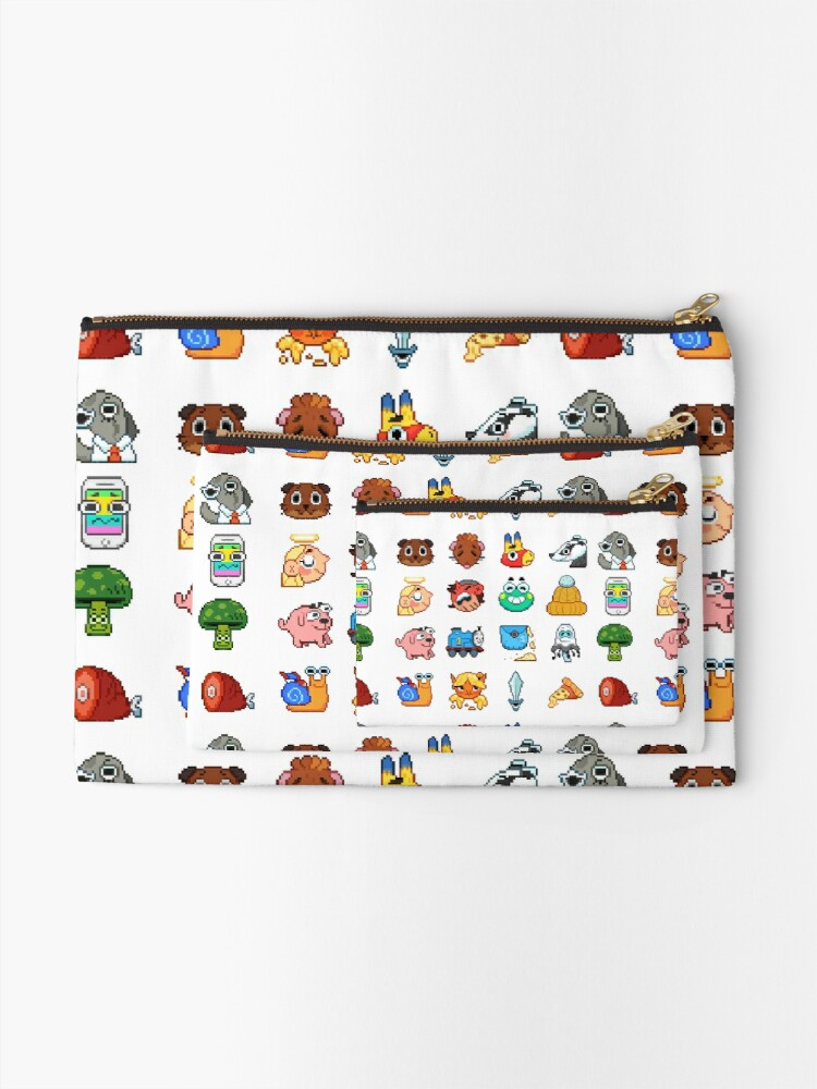 Alternate view of Doodle Date Pixel Party  Zipper Pouch