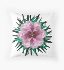 Fanciful Mauve on Teal Floor Pillow