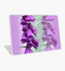 Foxglove Pattern Laptop Skin