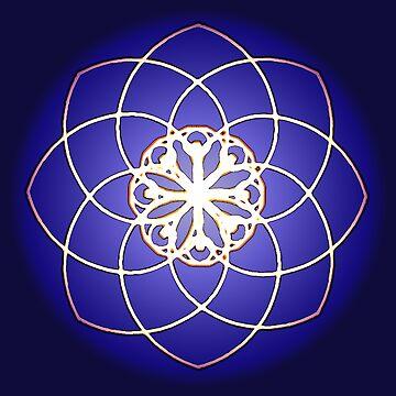 Many hearts - Gold Phi Spiral by neekos