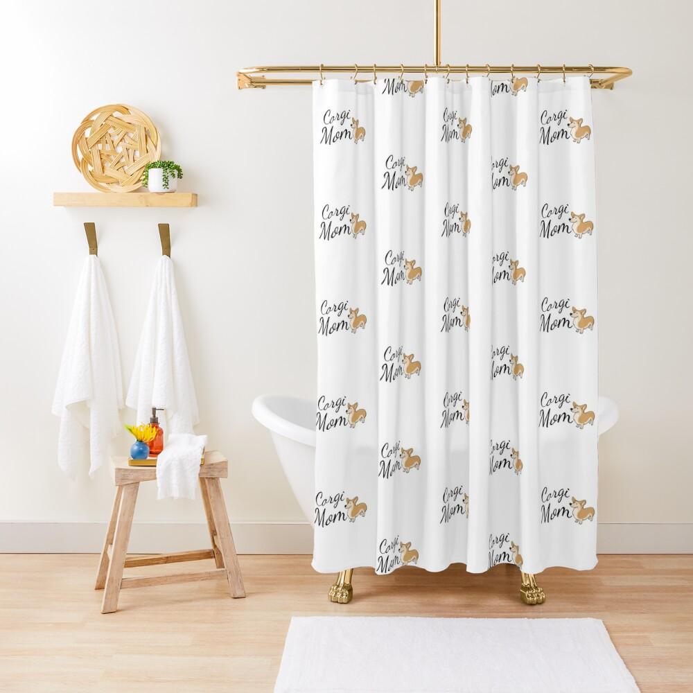 Corgi Mom Shower Curtain