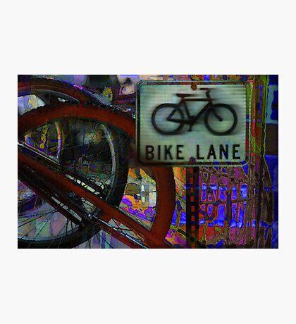 The Bike Lane Photographic Print