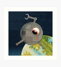 Killer Deathray Eyebot! Art Print