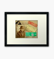 Detective Themed Collage Framed Print