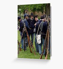 Union Infantry Greeting Card