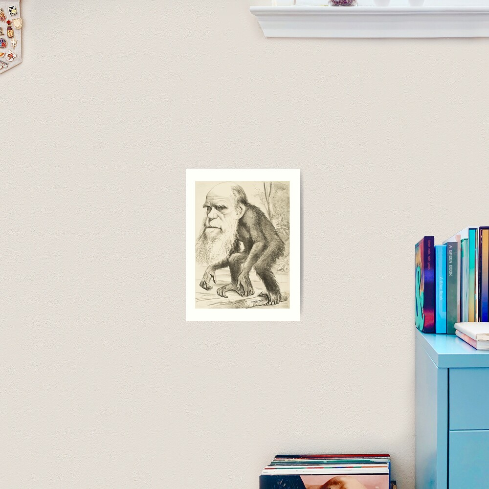 DARWIN:   The Monkey's Uncle! Art Print