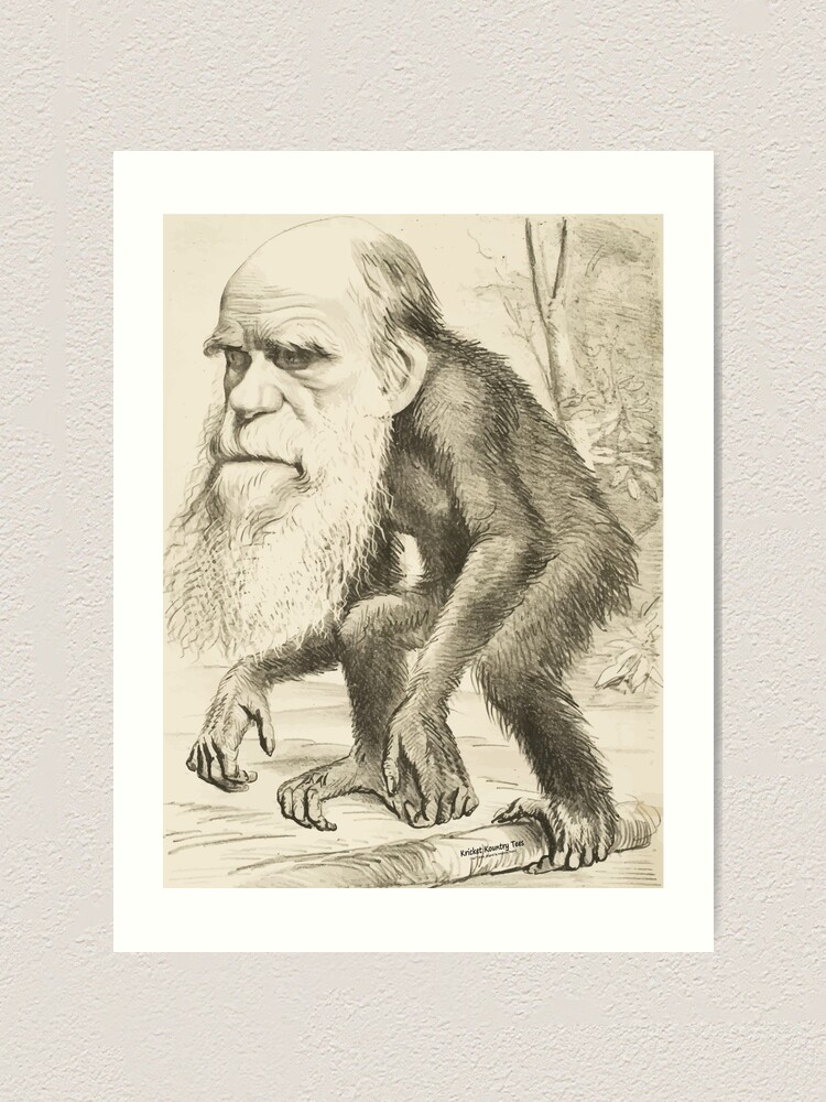 Alternate view of DARWIN:   The Monkey's Uncle! Art Print