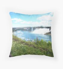 Candian-American Crossing Throw Pillow