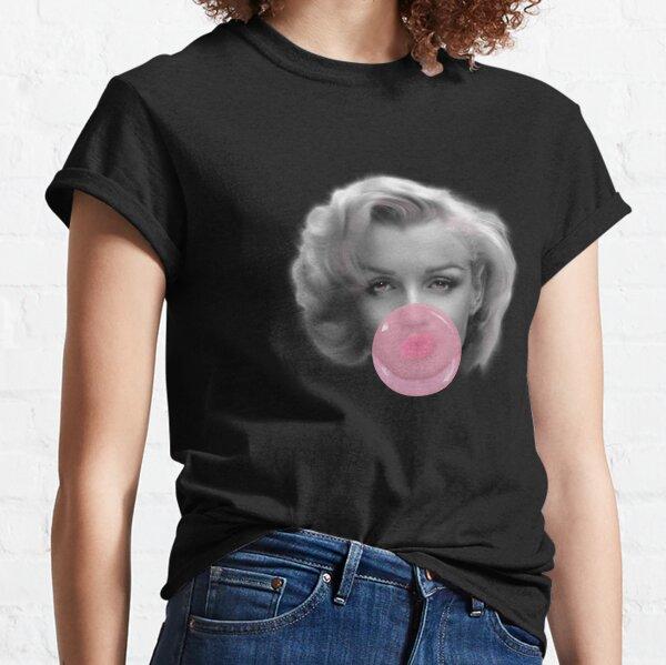 Marilyn Monroe bubble gum rose bubblelicious design par UrbanHero T-shirt classique