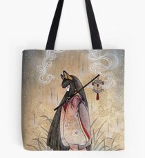 Bad Thoughts - Kitsune Fox Yokai  Tote Bag