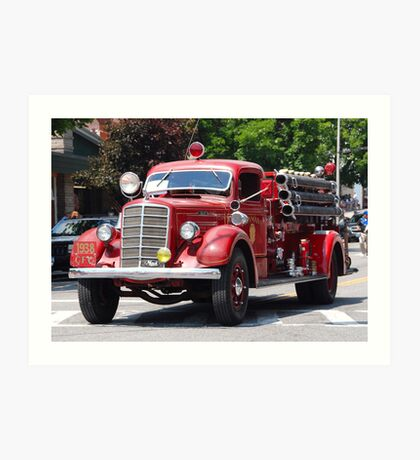 Mack 1938 Fire Truck Art Print