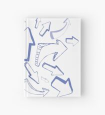 Sketched Arrows Hardcover Journal