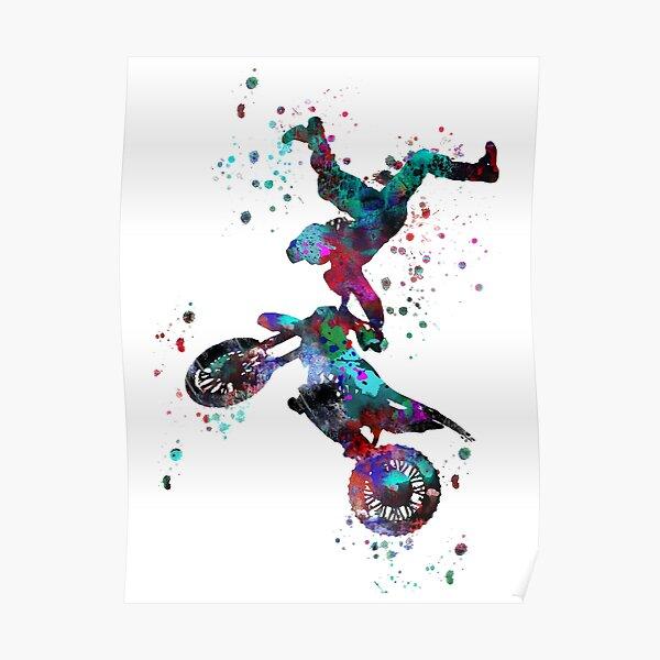 Motocross dirt bike, dirt bike, vélo de sport, motocross, cavalier Poster