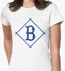 Camiseta entallada para mujer Béisbol Vintage Brooklyn Dodgers B Diamond