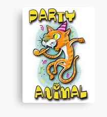 Party animal  Canvas Print