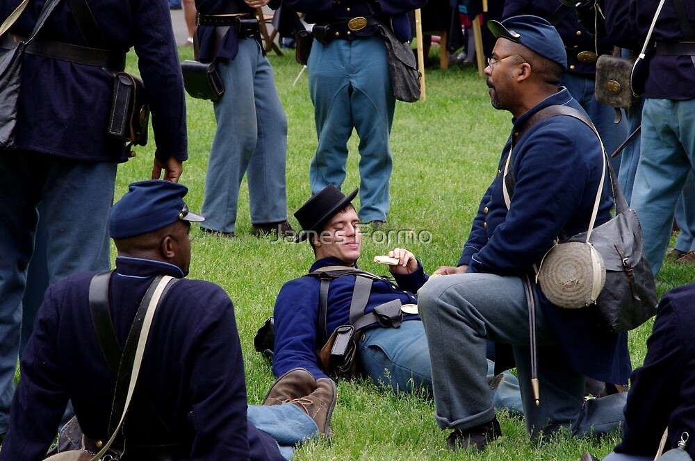 Union Troops at Rest by James Formo