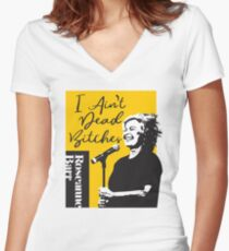 Camiseta entallada de cuello en V Roseanne Barr - No estoy muerta camiseta