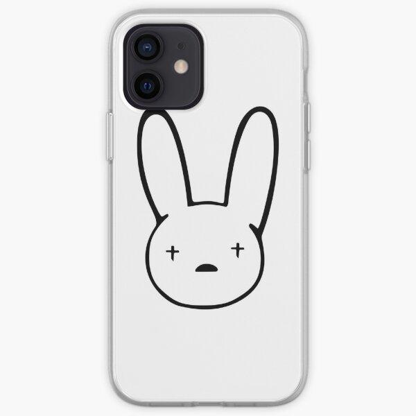 Etiqueta engomada de Bad Bunny de la mejor calidad - Logo de Bad Bunny calcomanía x100PRE Funda blanda para iPhone