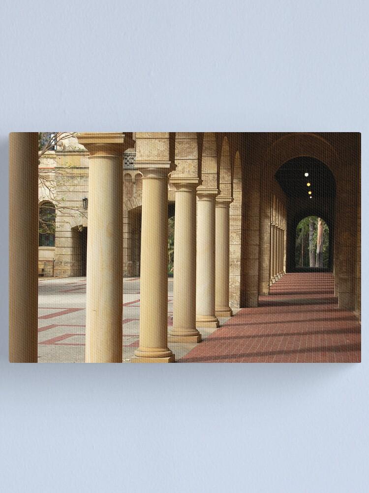 Alternate view of University of Western Australis -  Colonnade Canvas Print