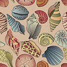 Vintage Seashell Muster nahtlos von kennasato