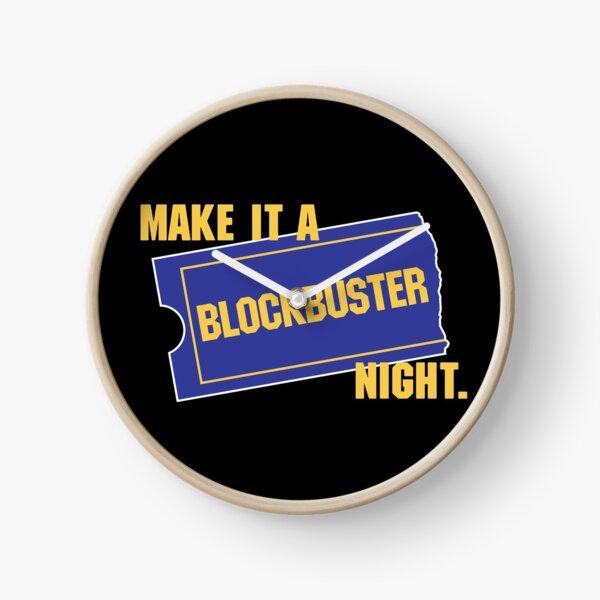 Make It a Blockbuster Night Clock