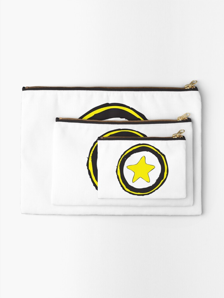 Alternate view of Star Icon Sketch Zipper Pouch