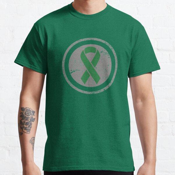 Vintage Green Awareness Ribbon Graphic Classic T-Shirt