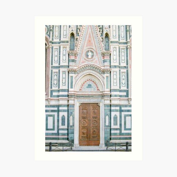 Florence Italy Duomo Church Door Photography Art Print